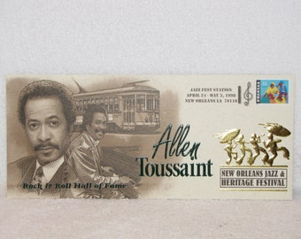 New Orleans Jazz Fest Allen Toussaint Commemorative Cachet Envelope 1998  #1625