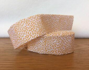 Cotton Quilt Binding- Orange Scratch Dots