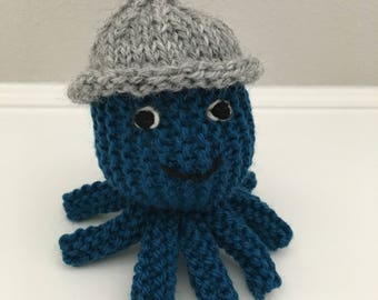 Octopus - Organic Octopus - Stuffed Animal - Knitted Octopus - Handmade Toy - Stuffed Octopus - Soft Toy - Waldorf Octopus