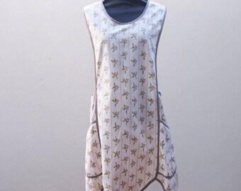 Pinafore apron - Full length apron - Cross back apron - Slipon apron - Australian souvenir - Kitchen apron - Hostess apron - Japanese apron