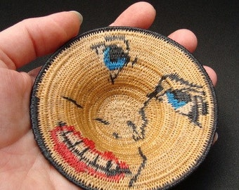 Storm Warning Contemporary Miniature Basket Angry Blue-Eyed Monster Face