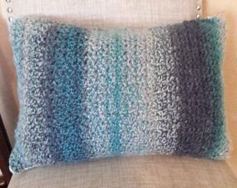 Oceanic blue throw pillow