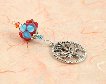 Blessingway bead - Summer Blooms Tree of Life - Mother Blessing bead, mama goddess