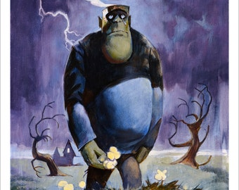MILTON THE MONSTER Scary Signed Art Print by Mike Von Hoffman