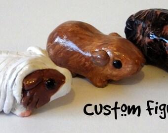 Custom Cute Guinea Pig Sculpture/Figurine - Made to Order