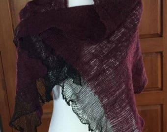 Hand-knit shawl/wrap