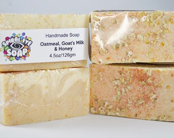 Oatmeal, Goat's Milk, & Honey - Handmade Soap