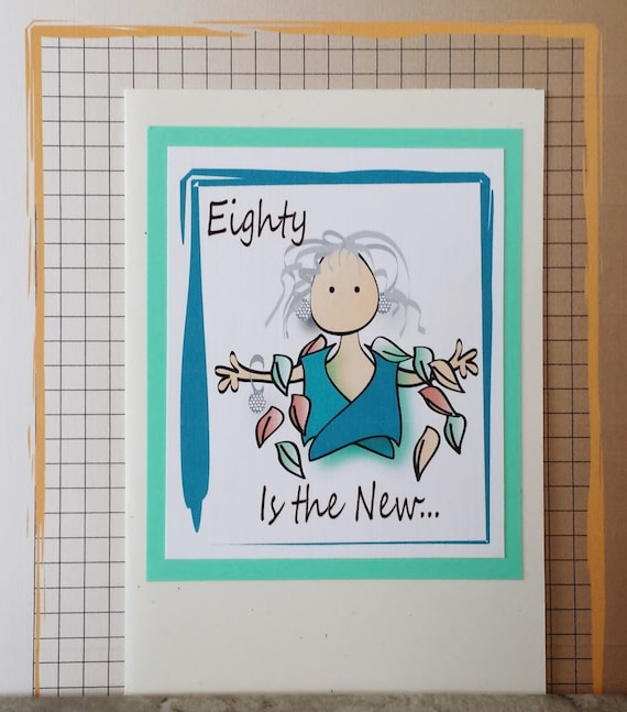 80th Birthday Card Funny Milestone Birthday Card Women