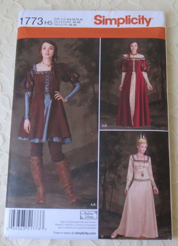 Simplicity 1773 Costume Snow White Huntswoman Queen Medieval