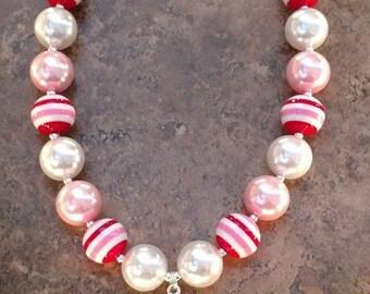 Pink Sofia chunky bead necklace