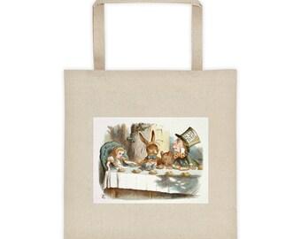 Alice in Wonderland Mad Hatter's Tea Party Vintage Illustration Tote bag