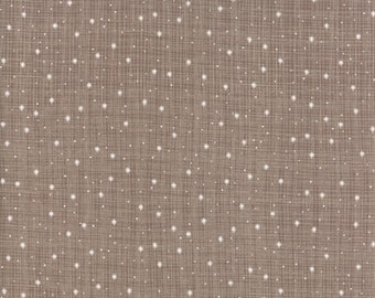 Snowfall in Taupe  - Return to Winter's Lane - Kate and Birdie Paper Co - Moda Fabrics - 13174 16 - Christmas Fabric