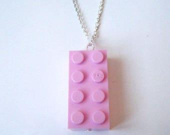 Pendant ♥ ♥ light pink Lego brick