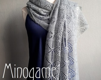 Minogame, a lace shawl with hexagons KNITTING PDF