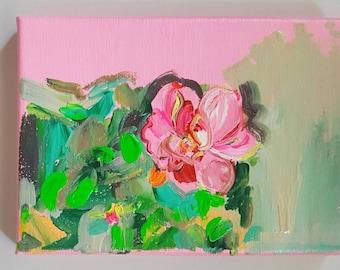 Rose I Acrylic Painting
