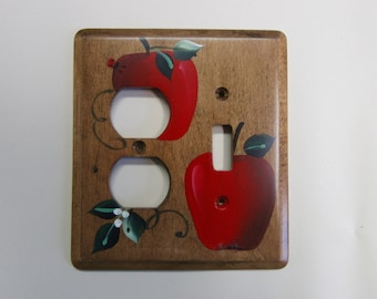 Outlet Switch Wall Plate   Red Apples    Country Kitchen