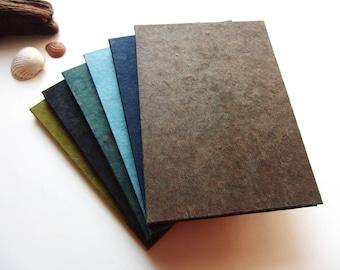 "Accordion Photo Album ""Nature"" green, blue, brown & black"