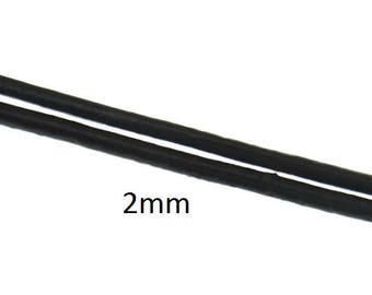 3 meters 2mm Black Leather cord