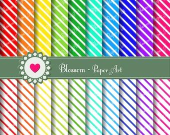 Stripes Digital Paper Digital Paper Pack, Stripes Printable Paper, Digital Image, Scrapbooking - DIY Proyects - 300 dpi - 1352