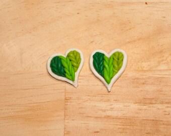 Braided Hearts Earrings