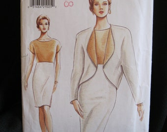 Size 18 - 22, Vogue 9196, A Study in Contrasts, dress with contrasting bodice, coordinating jacket with contrasting lining, very easy, uncut