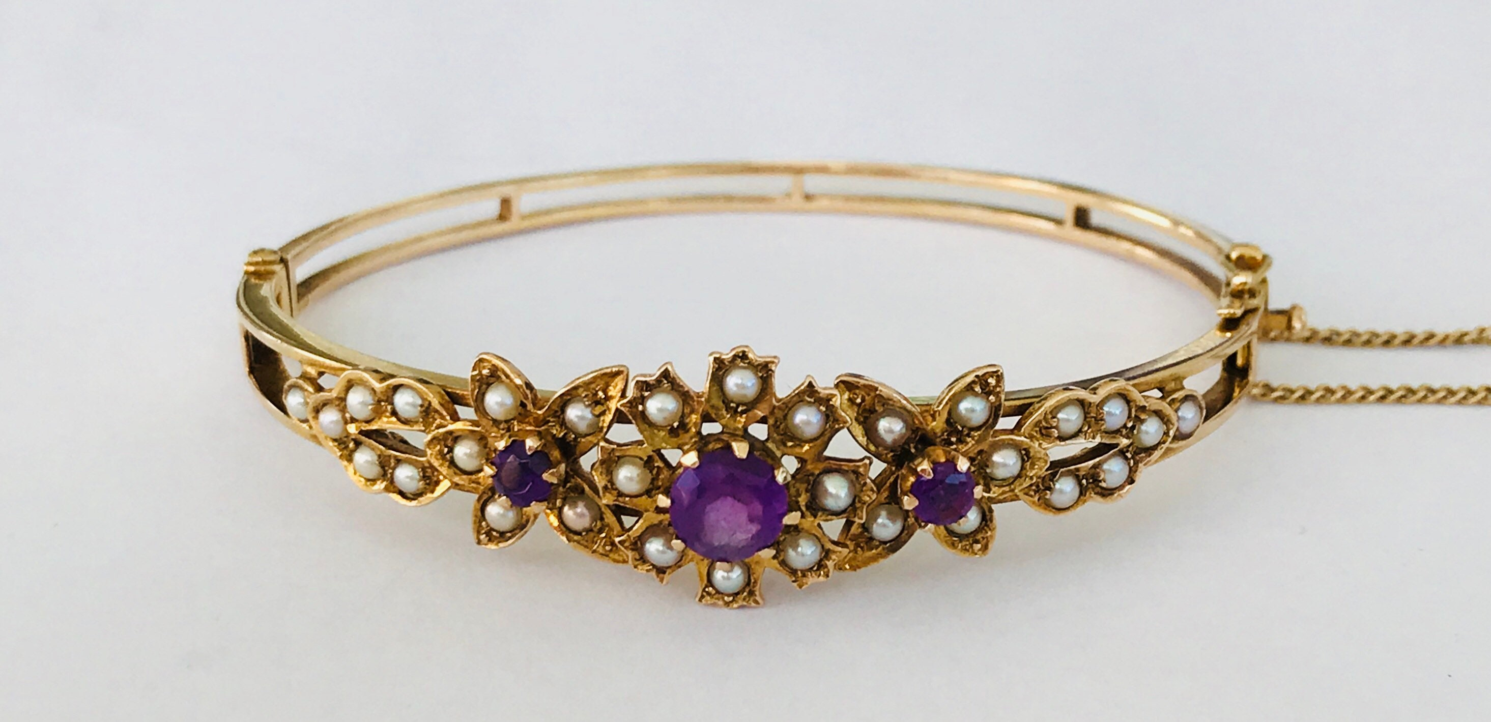 diamond bangles bracelet black curated bangle wrap los products angeles amethyst and tourmaline