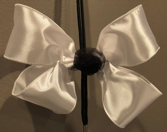 Big White Hair Bow w/ a touch of Black