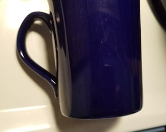 Simple Blue Coffee Mug with Brown Rim