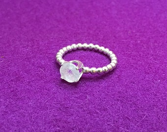 Lunar Solitaire Ring