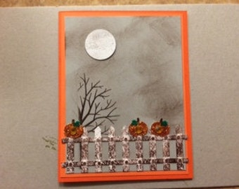 Fall Night Sky card