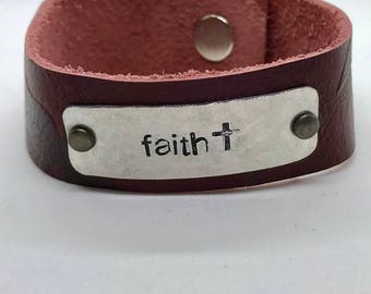 Faith Red Cuff