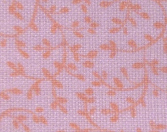 Simple Peach Vine - Vintage Fabric - Cotton