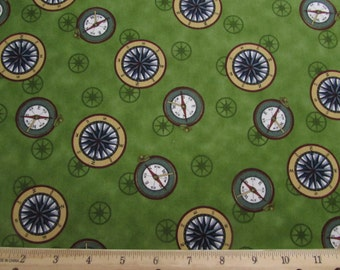 Per Yard, Safe Harbor Compass Fabric From VIP