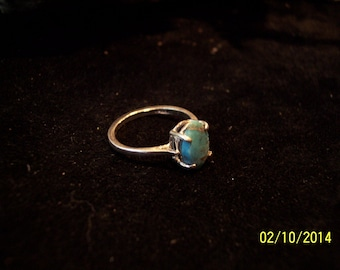 Sterling Silver Turquoise band ring.