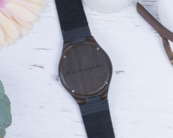 Wooden Watch Personalized Gift Engraved Watch Personalized Watch Custom Watch Personalized Watches Engraved Watches Wood Watch Engraved
