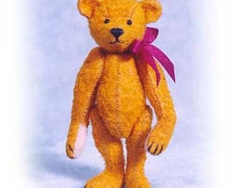 "PDF Pattern & Instructions for Miniature Teddy Bear - Old Worn, Old Pal, and Raggedy Bear 2 1/2"" tall -  by Emily Farmer"