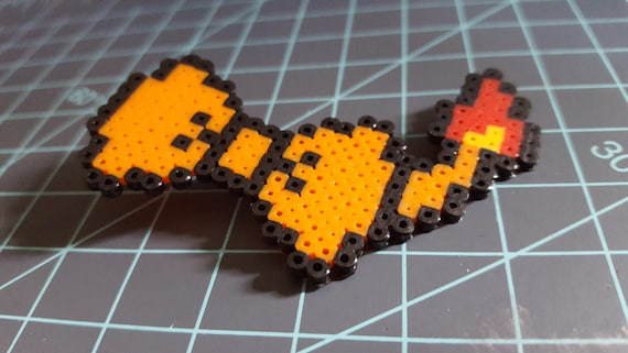 Charmander Bow - Pokemon, Charmander, fire, pearler, pixel art