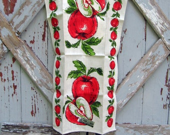 New Parisian Prints pure linen towel - apples
