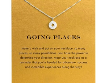 Handmade  Explore Compass Necklace / Great Gift