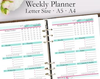 week schedule template pdf