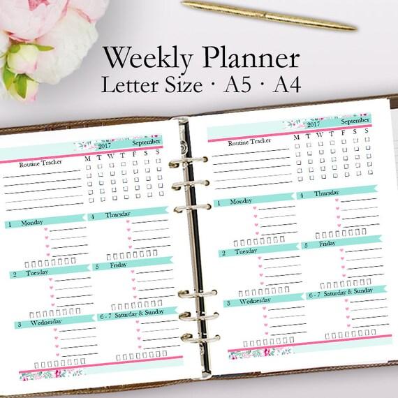 Editable Weekly Planner Template PDF Weekly Planner Printable