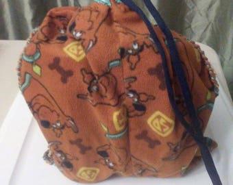Scooby Doo Drawstring Bag, Mini gym Bag, Mini Tote, Go Green, Environmental Awareness, Repurposed, Travel bag, Recycled, Upcycled