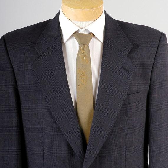 Designer Sportcoat Vintage Blue Navy 40R Plaid Jacket Mens 40 80s Burberry Burberrys Prorsum gW4wOp