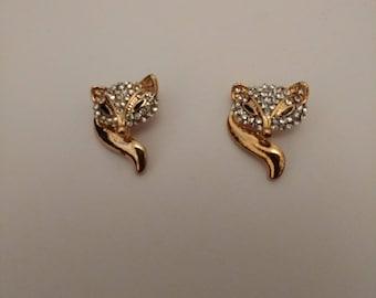 Little Fox Pins...Pair of collar Pins