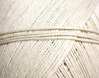 10 meters - Twine 1 mm cream white linen stocking - 4558550084316