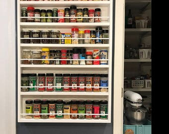 Spice Rack, Door Mounted Spice Rack To Help With All Your Storage Needs.