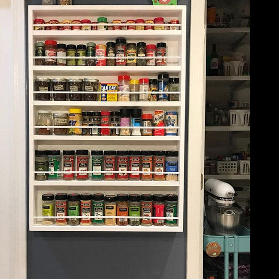 Spice Rack Door Mounted Spice Rack To Help With All Your