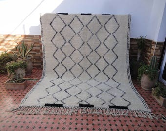 LARGE beni ourain vintage authentic 100% WOOL moroccan berber