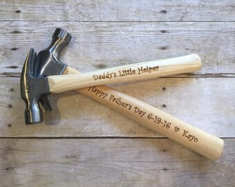 Engraved Hammers, Personalized Laser Engraved Hammer, Personalized Gift For Him, Gift for husband, Dad or Grandpa, Father's Day Gift
