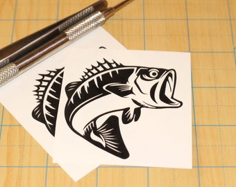 Largemouth Bass sticker  |  bass fishing decal